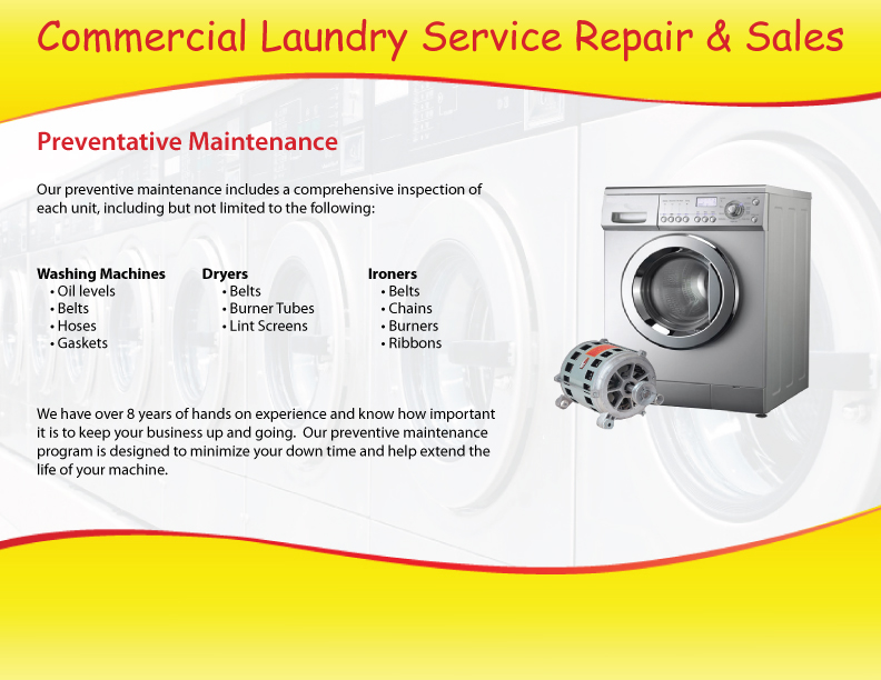 Commercial-Laundry-Repair Service and Sales